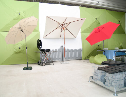 Immer der passende Schirm - auch für kleine Gärten und Balkone - Sonnenschirme für Balkone und kleine Gärten