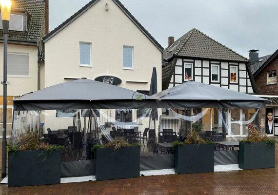 Neu im Sortiment: Seitenwand für Sonnenschirm, Markise und Terrasse - Seitenwand für Sonnenschirme - Terrassenüberdachung - Markise - Seitenteil für Sonnenschirme