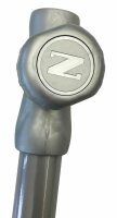 Bottom pole 30mm silver with turning knob