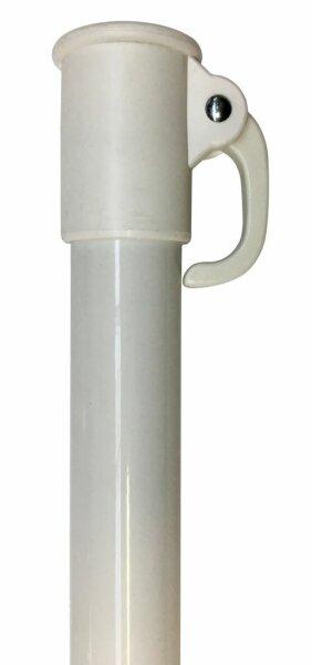 Unterrohr 30mm weiß mit Hebel