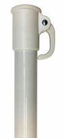 Bottom pole 30mm white with lever