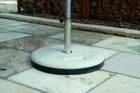 concrete base 60kg with rubber ring protection