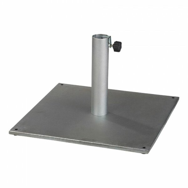 Steel umbrella base, steelt tube 44mm, silver
