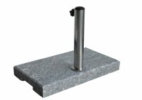 balcony granite base, Inox tube 25-44mm grey