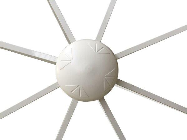 Gestell Palma 200x200/8 weiß