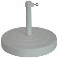 Betonständer 30kg rund, weiß for Rohre 26-44mm