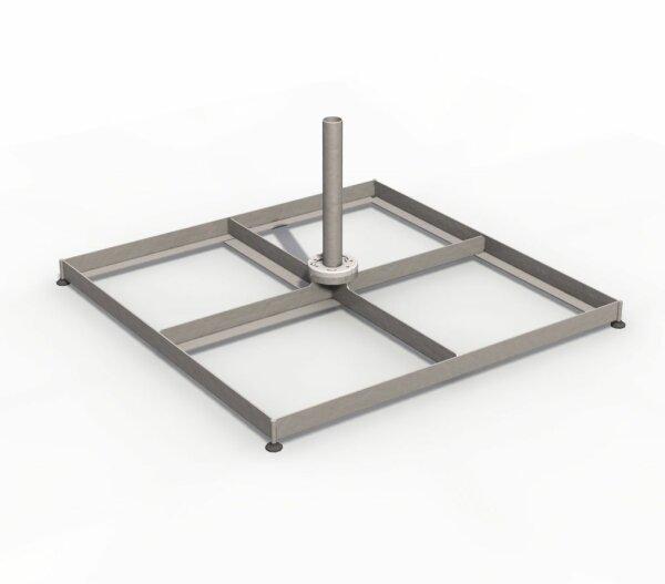 Plattenständer 100x100 cm mit Stellfüßen