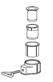 Abschlußring 26-44 mm grau