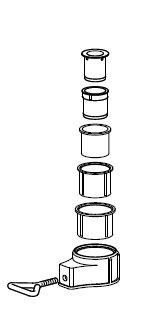 Abschlußring 26-56 mm weiß