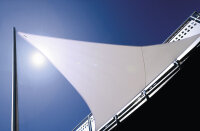 Sun shade wall-mounted Rechteck with acrylic fabric