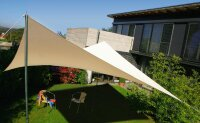 Sun shade stand-alone Rechteck with acrylic fabric